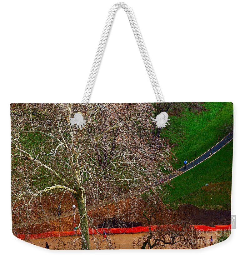 Landscape Weekender Tote Bag featuring the photograph The Parc Des Buttes-chaumont # 1. by Alexander Vinogradov