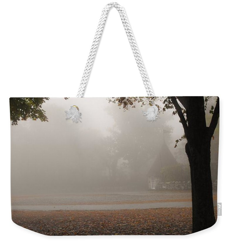 Rock City Weekender Tote Bag featuring the photograph The Parking Entrance To Rock City by Lori Mahaffey