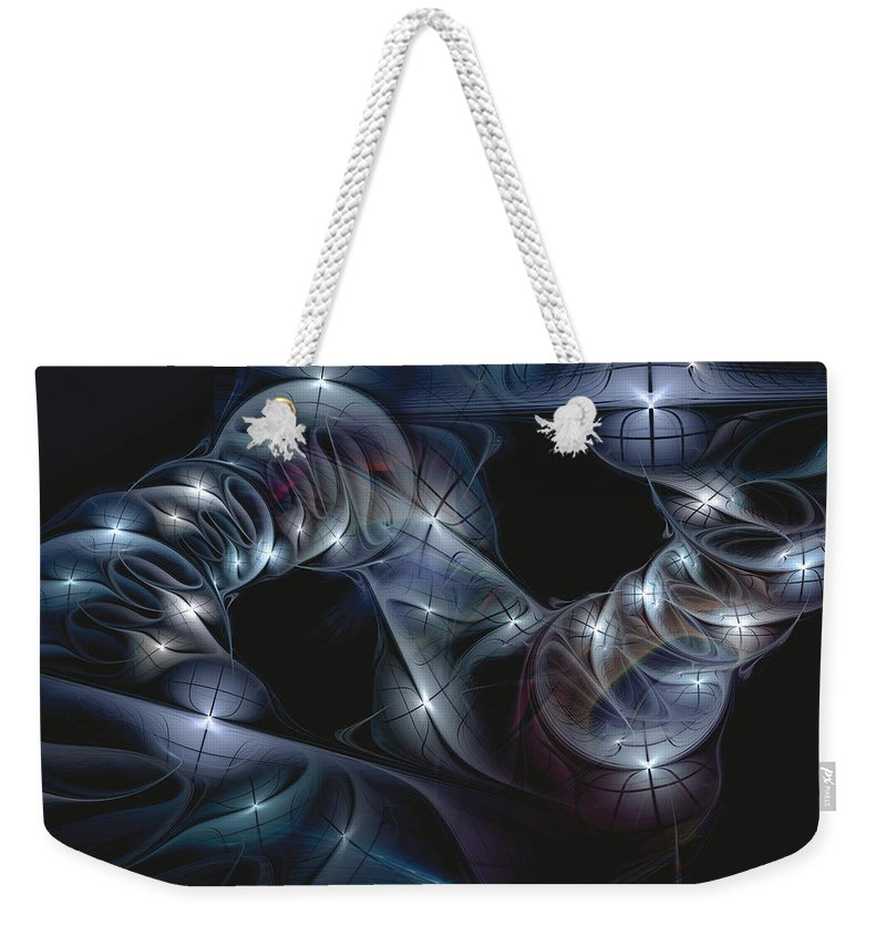 Abstract Weekender Tote Bag featuring the digital art The Passing by Casey Kotas