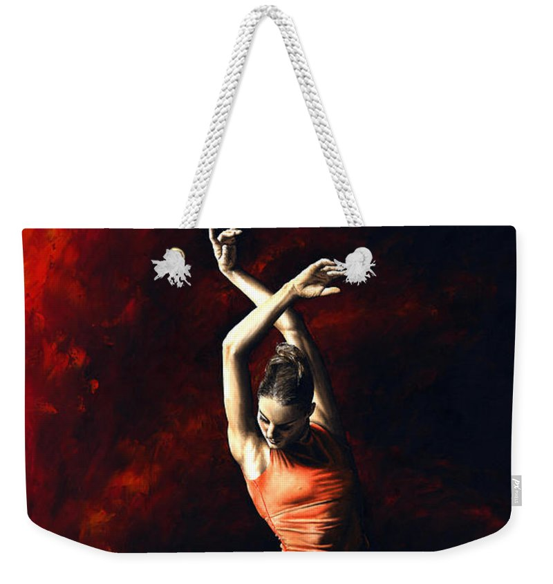 Dancer Weekender Tote Bag featuring the painting The Passion Of Dance by Richard Young