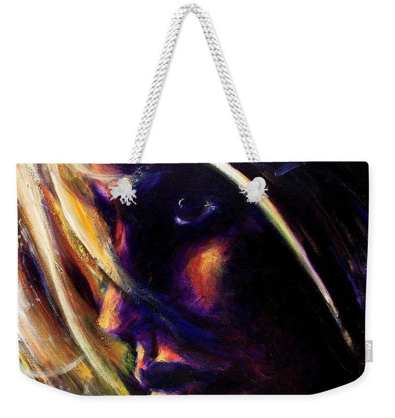 Acrylic Weekender Tote Bag featuring the painting The Past Is Gone by Jason Reinhardt