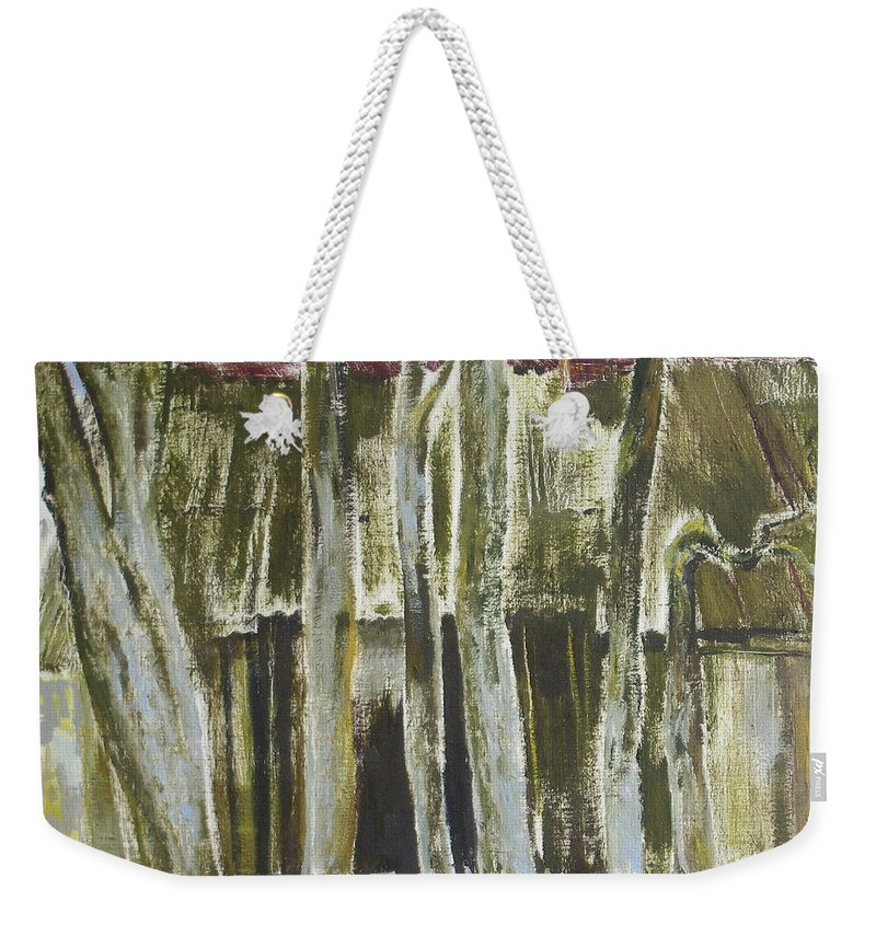 Oil Weekender Tote Bag featuring the painting The Past Space by Sergey Ignatenko