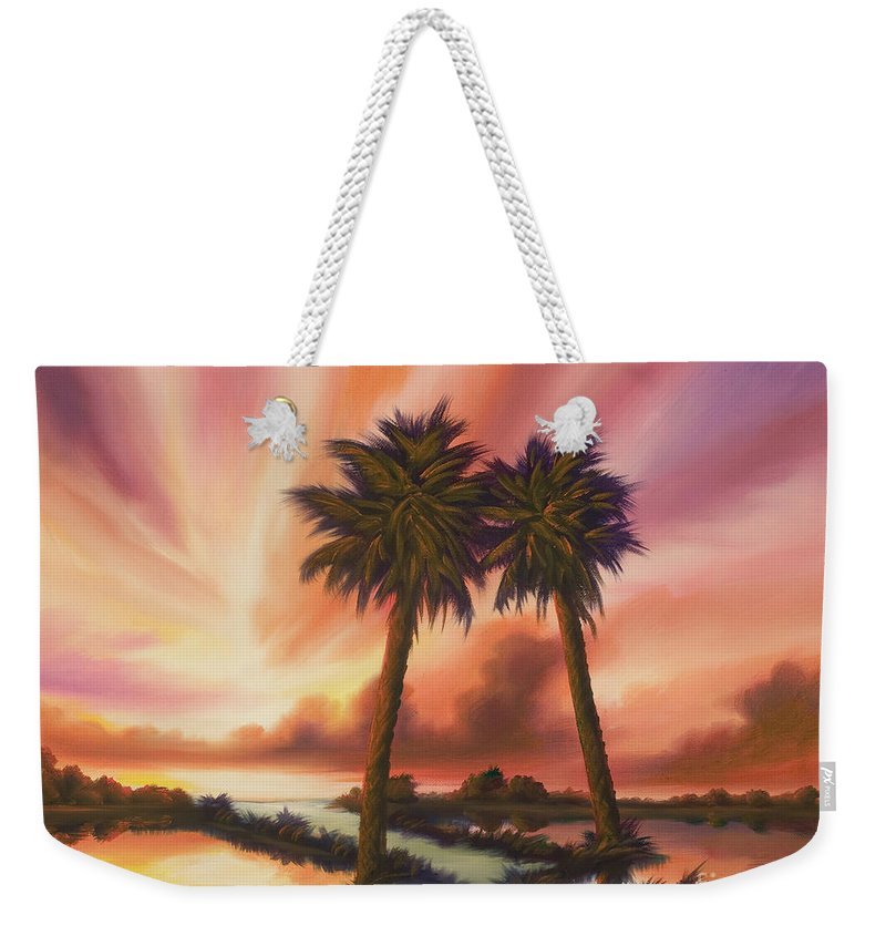 Skyscape Weekender Tote Bag featuring the painting The Path Ahead by James Christopher Hill