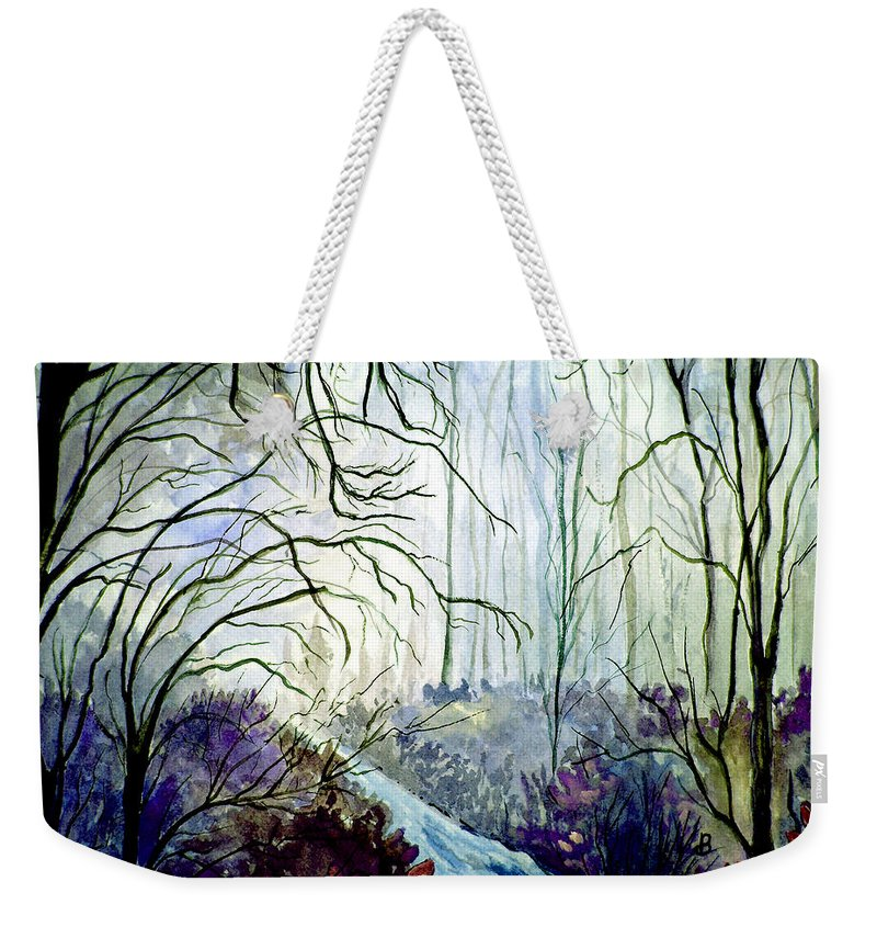 Watercolor Weekender Tote Bag featuring the painting The Path by Brenda Owen