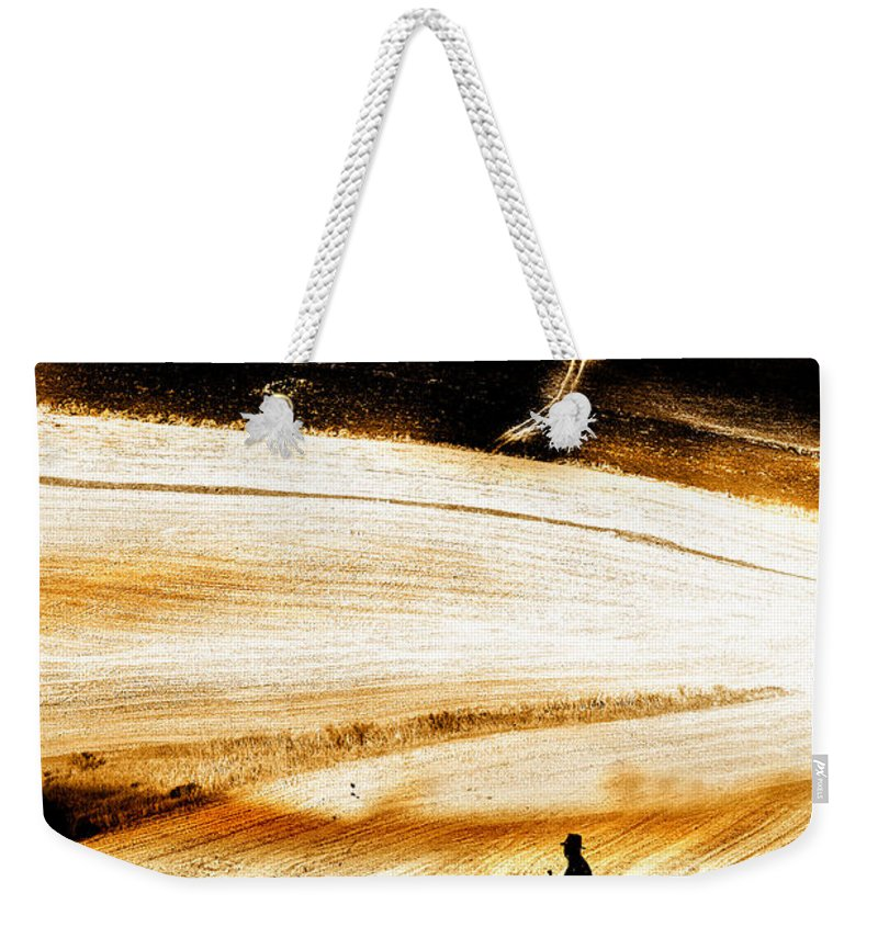Landscape Weekender Tote Bag featuring the photograph The Path Home by Mal Bray
