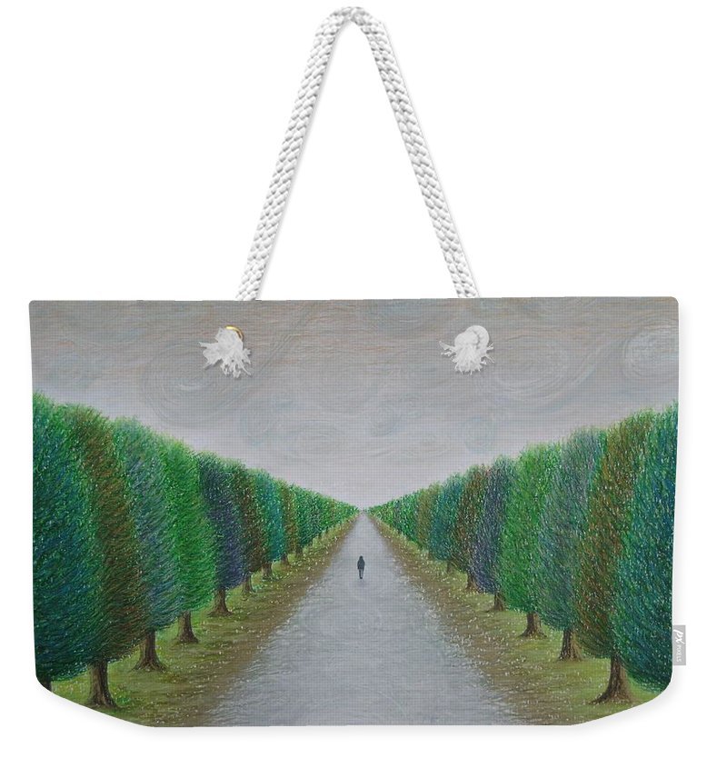 Path Weekender Tote Bag featuring the painting The Path by Lynet McDonald