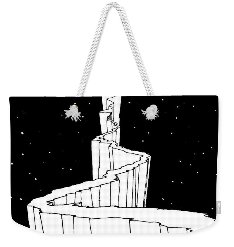 The Path To The Moon Weekender Tote Bag featuring the photograph The Path To The Moon by William Heath Robinson