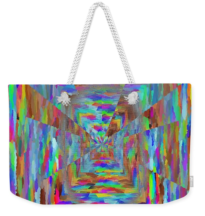 Abstract Weekender Tote Bag featuring the digital art The Pathway by Tim Allen