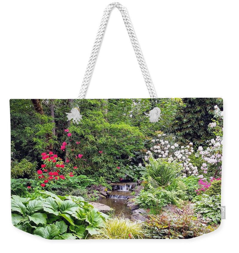 Botanical Floral Nature Weekender Tote Bag featuring the photograph The peaceful place 2 by Valerie Josi