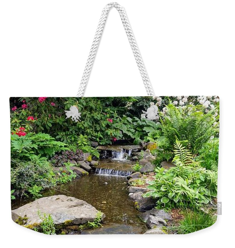 Botanical Floral Nature Weekender Tote Bag featuring the photograph The peaceful place 3 by Valerie Josi