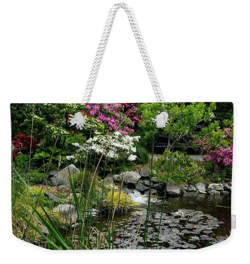 Botanical Flower's Nature Weekender Tote Bag featuring the photograph The peaceful place 6 by Valerie Josi