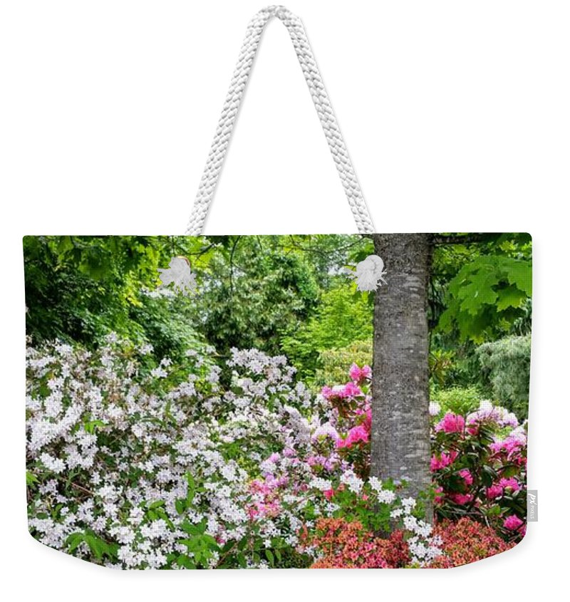 Botanical Flower's Nature Weekender Tote Bag featuring the photograph The peaceful place 8 by Valerie Josi