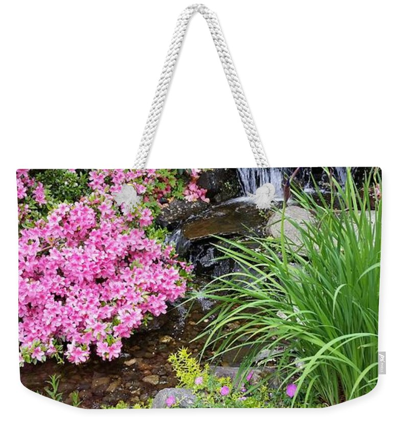 Garden Weekender Tote Bag featuring the photograph The peaceful place by Valerie Josi
