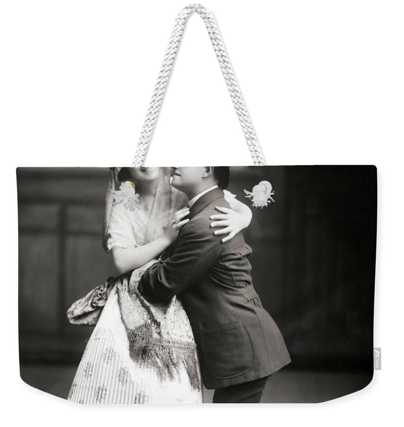 1915 Weekender Tote Bag featuring the photograph The Peasant Girl, 1915 by Granger