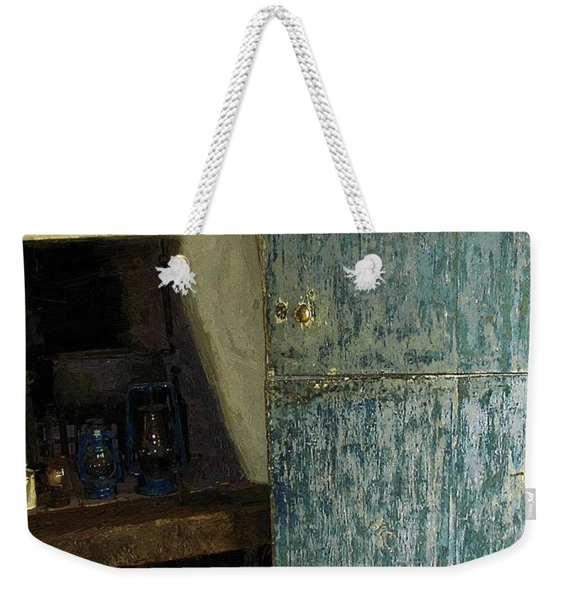 Cookstove Weekender Tote Bag featuring the painting The Peasant's Dwelling by RC DeWinter