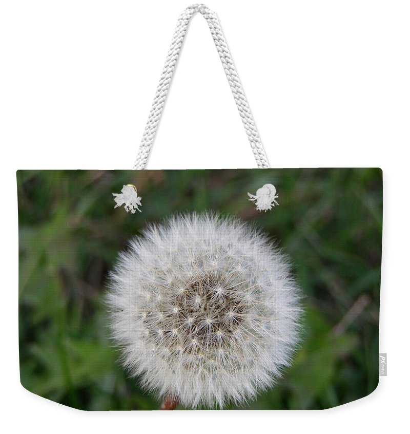 Flower Weekender Tote Bag featuring the photograph The Perfect Dandelion by DeeLon Merritt