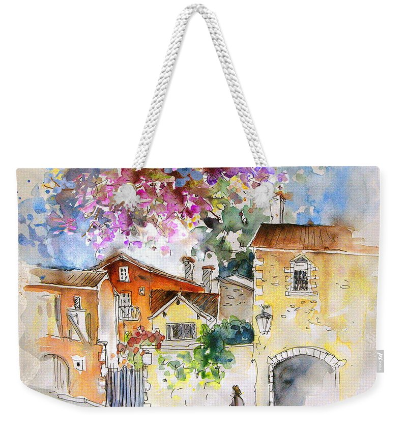 France Paintings Weekender Tote Bag featuring the painting The Perigord In France by Miki De Goodaboom
