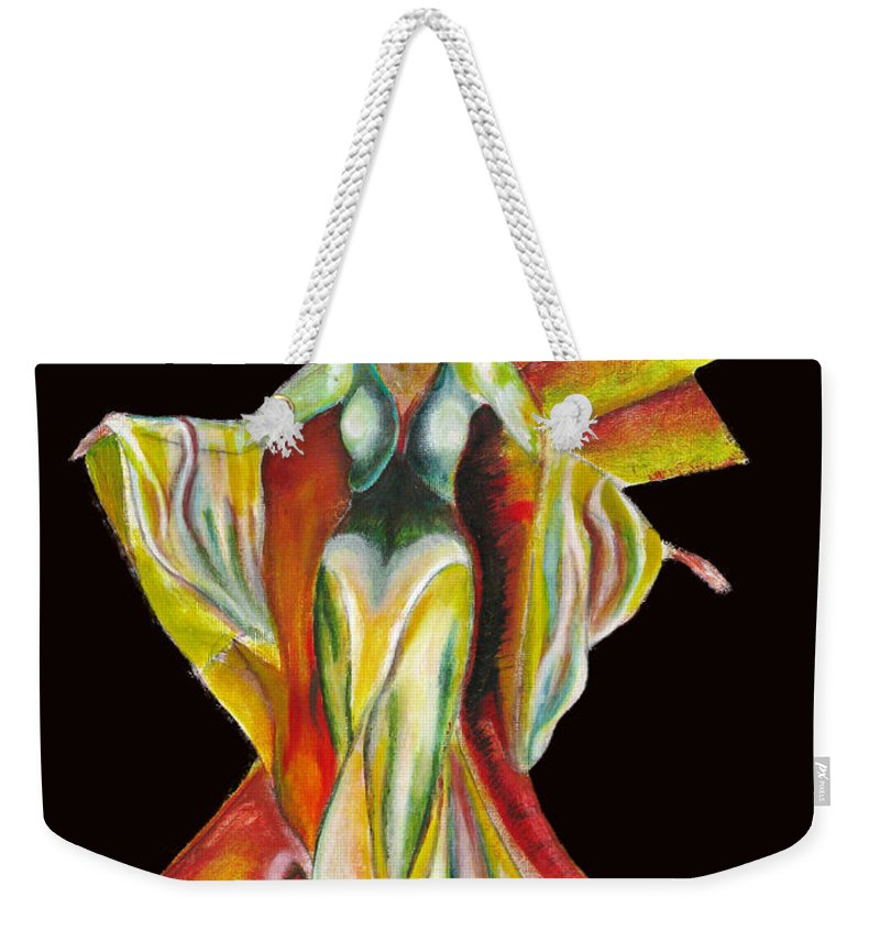 Dresses Weekender Tote Bag featuring the painting The Phoenix 2 by Tom Conway