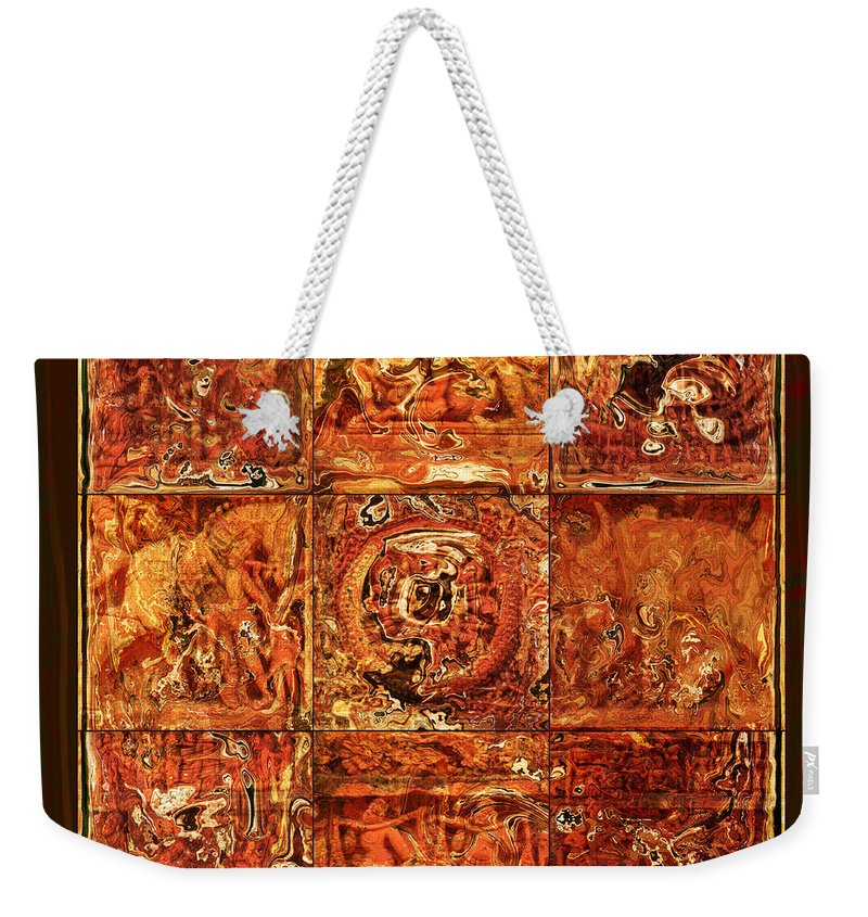 Bangladesh Weekender Tote Bag featuring the digital art The Pieces Of Heritage by Rabi Khan