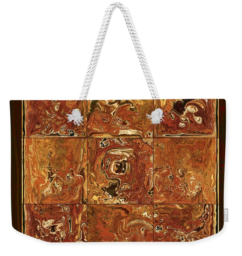 Abstract Weekender Tote Bag featuring the digital art The Pieces by Rabi Khan