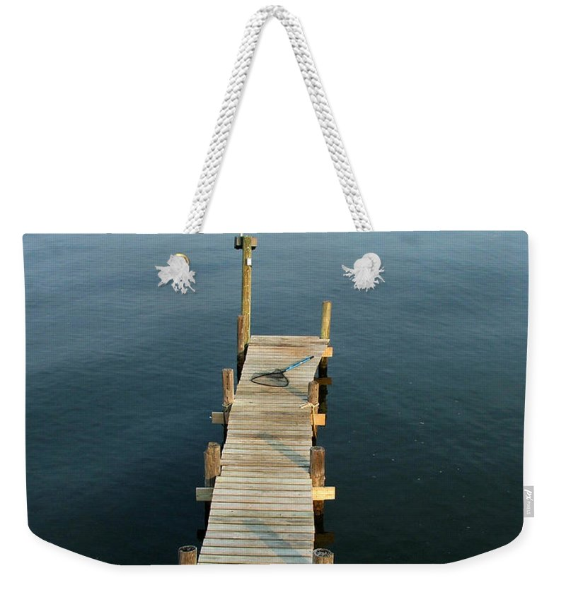 Pier Weekender Tote Bag featuring the photograph The Pier by Robert Meanor