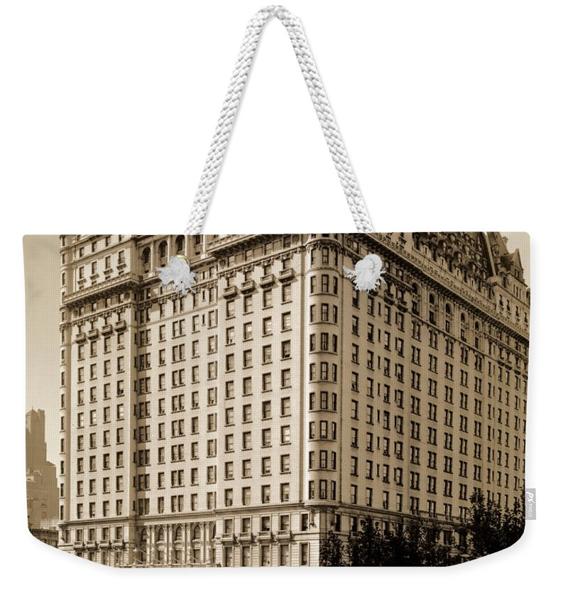 The Plaza Hotel Weekender Tote Bag featuring the photograph The Plaza Hotel by Henry Janeway Hardenbergh