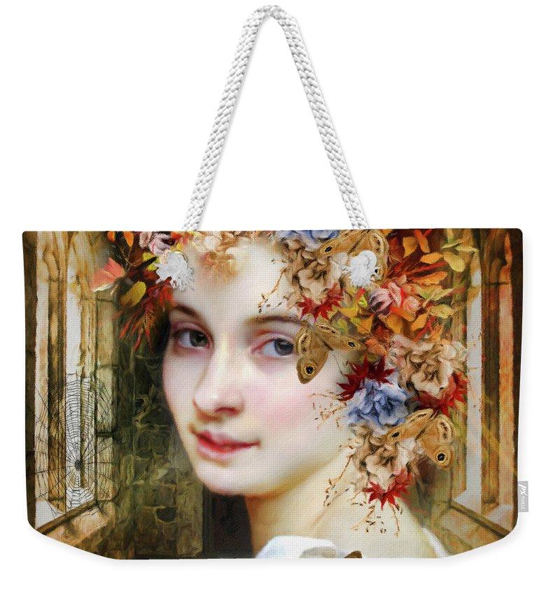 The Poets Lover Weekender Tote Bag featuring the painting The Poets Lover by Georgiana Romanovna