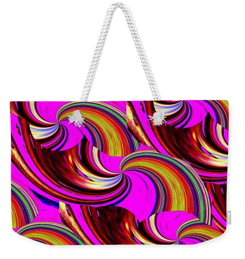 Abstract Weekender Tote Bag featuring the digital art The Point Is by Tim Allen