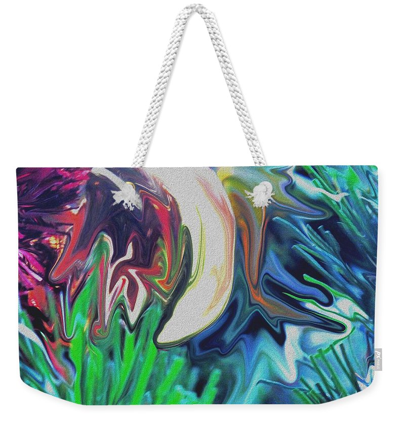 Abstract Weekender Tote Bag featuring the digital art The Pond by Ian MacDonald