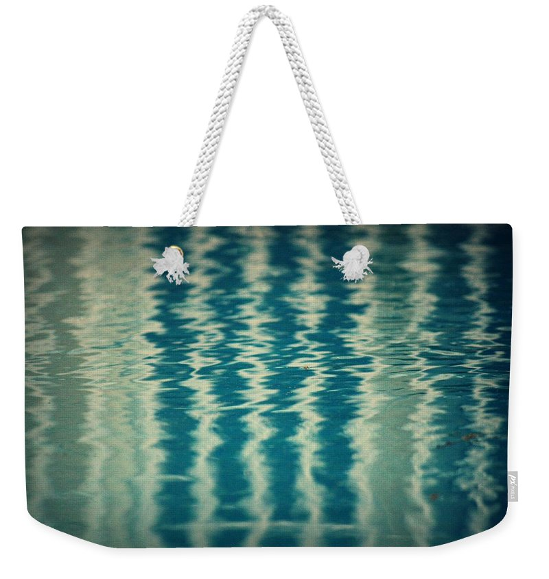 Pool Weekender Tote Bag featuring the photograph The Pool Party by Mandy Shupp