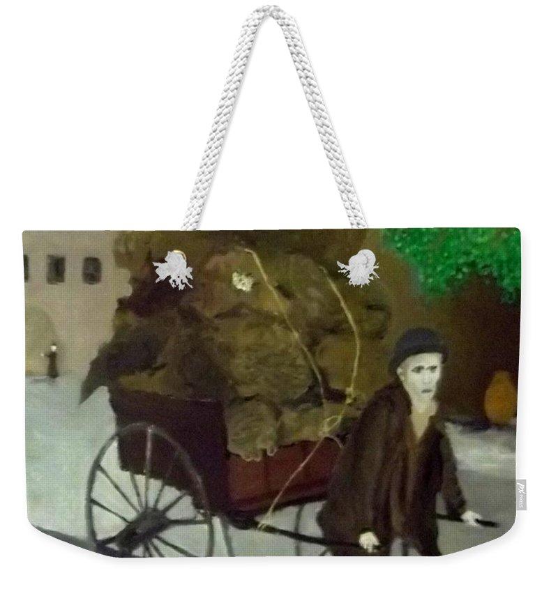 Poor Man Weekender Tote Bag featuring the painting The Poor Man's Burden by Peter Gartner