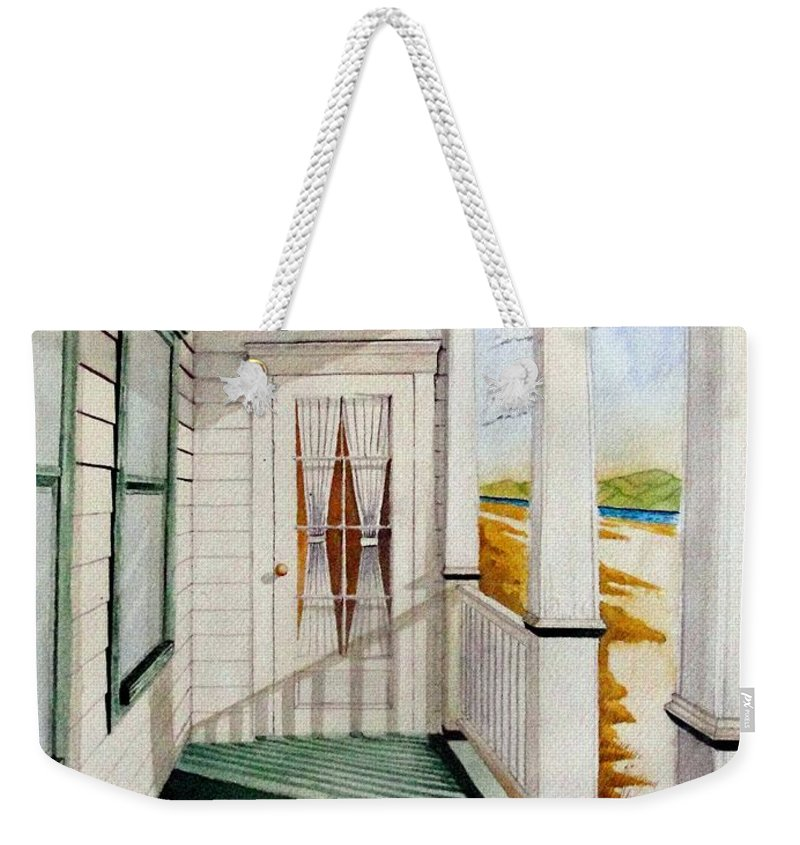 Art Weekender Tote Bag featuring the painting The Porch by Jimmy Smith