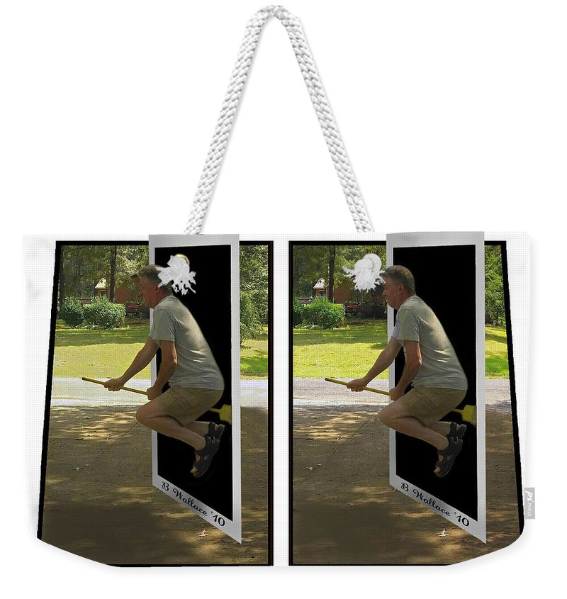 2d Weekender Tote Bag featuring the photograph The Potter Effect - Gently Cross Your Eyes And Focus On The Middle Image by Brian Wallace