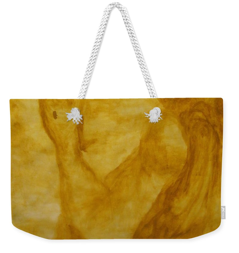 Gloria Ssali Weekender Tote Bag featuring the painting The Potter by Gloria Ssali