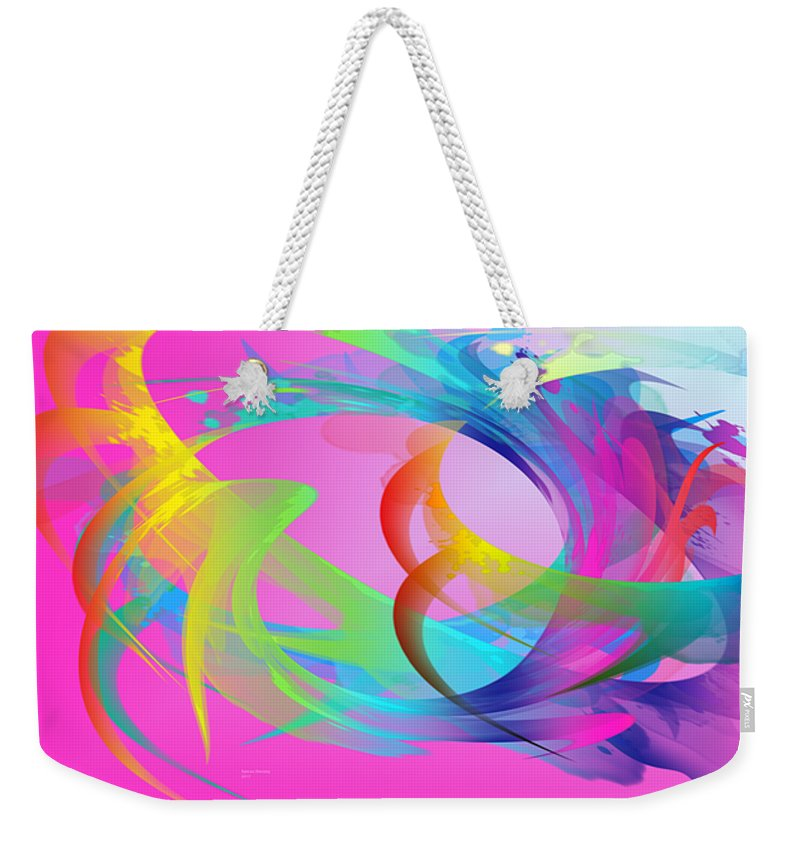 Energy Weekender Tote Bag featuring the digital art The Power And Positive Energy, 26 by Ayman Alenany