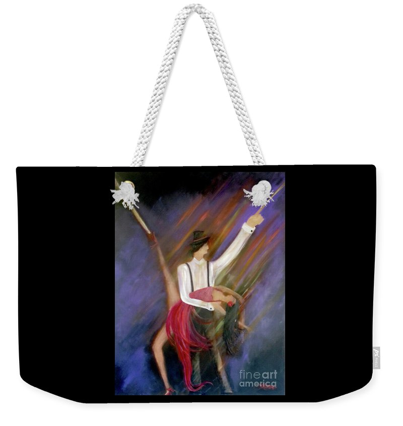 Dance Weekender Tote Bag featuring the painting The Power Of Dance by Linda Marie