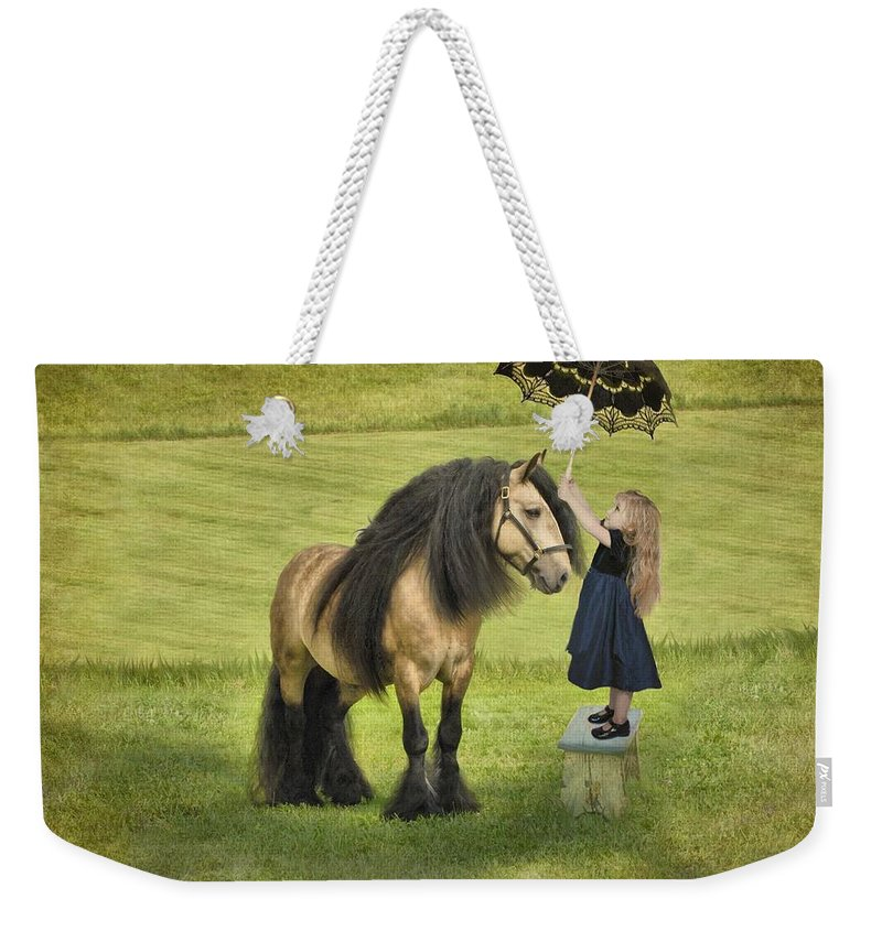 Children Weekender Tote Bag featuring the photograph The Precious Companion by Fran J Scott