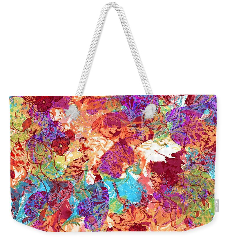 Abstract Weekender Tote Bag featuring the digital art The Princess Dream by Rachel Christine Nowicki