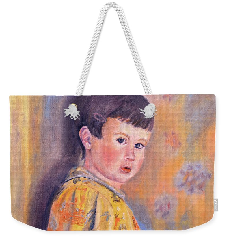 Impressionism Weekender Tote Bag featuring the painting The Print Dress by Keith Burgess