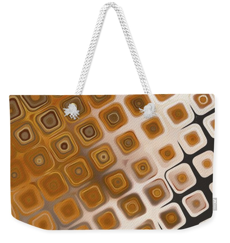 Pattern Weekender Tote Bag featuring the painting The Prisoner by Esoterica Art Agency