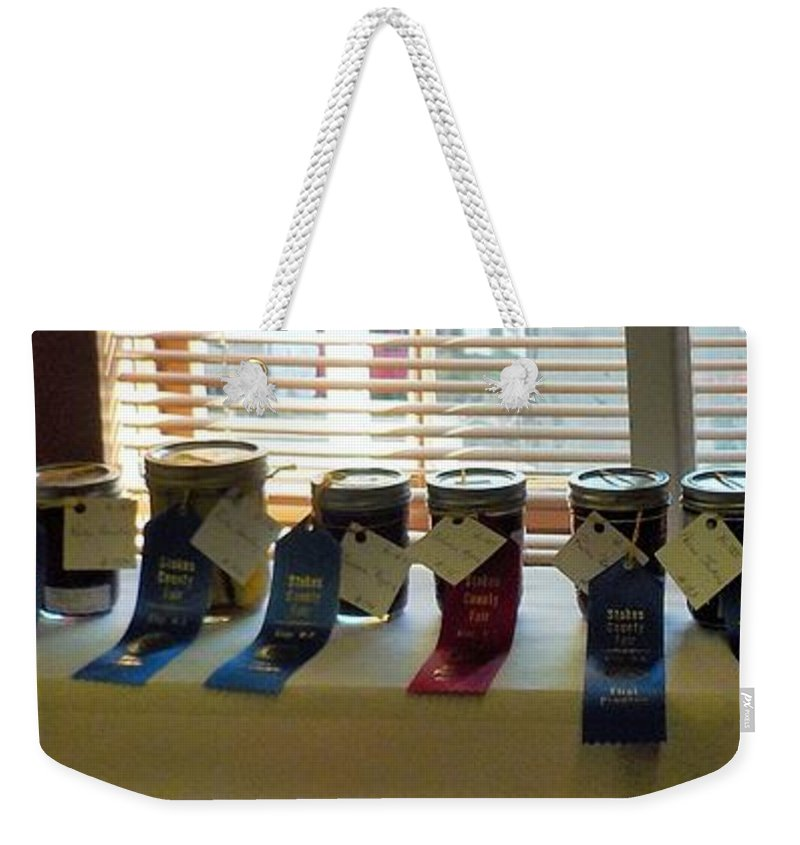 Home Canning Weekender Tote Bag featuring the photograph The Prize by Susan Jenkins