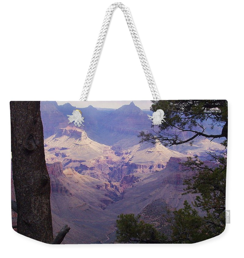 Grand Canyon Weekender Tote Bag featuring the photograph The Purple Grand by Marna Edwards Flavell