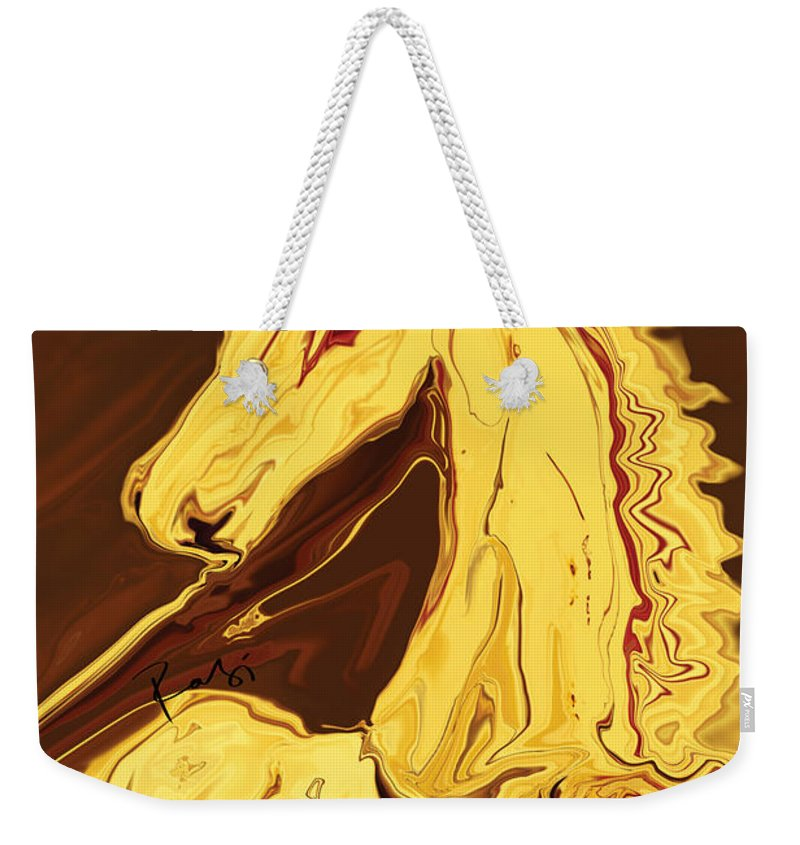 Brown Weekender Tote Bag featuring the digital art The Race by Rabi Khan