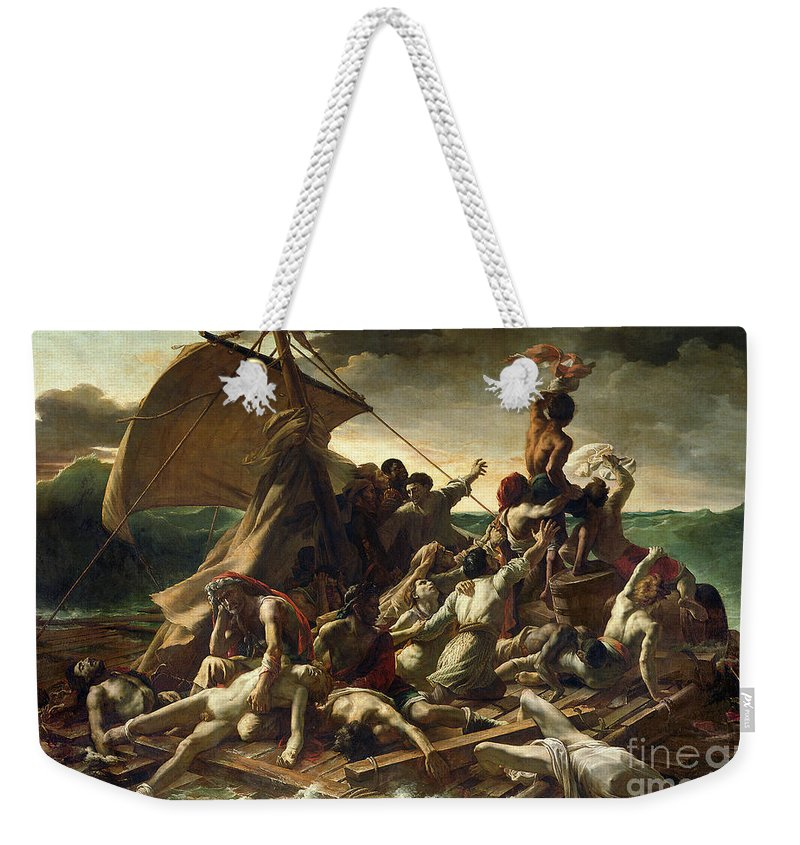 The Raft Of The Medusa Weekender Tote Bag featuring the painting The Raft Of The Medusa by Theodore Gericault