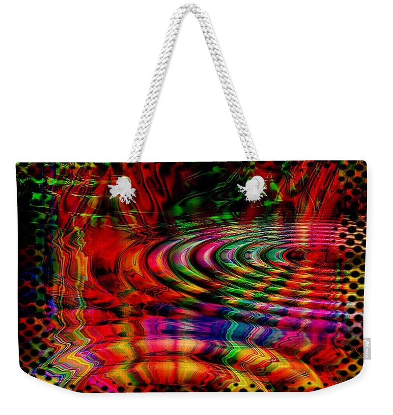 Ripple Weekender Tote Bag featuring the digital art The Rain Forest by Robert Orinski