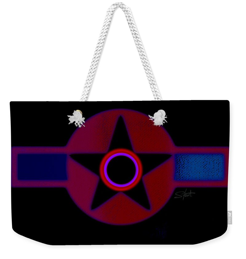 Usaaf Weekender Tote Bag featuring the painting The Rainbow In Reverse by Charles Stuart