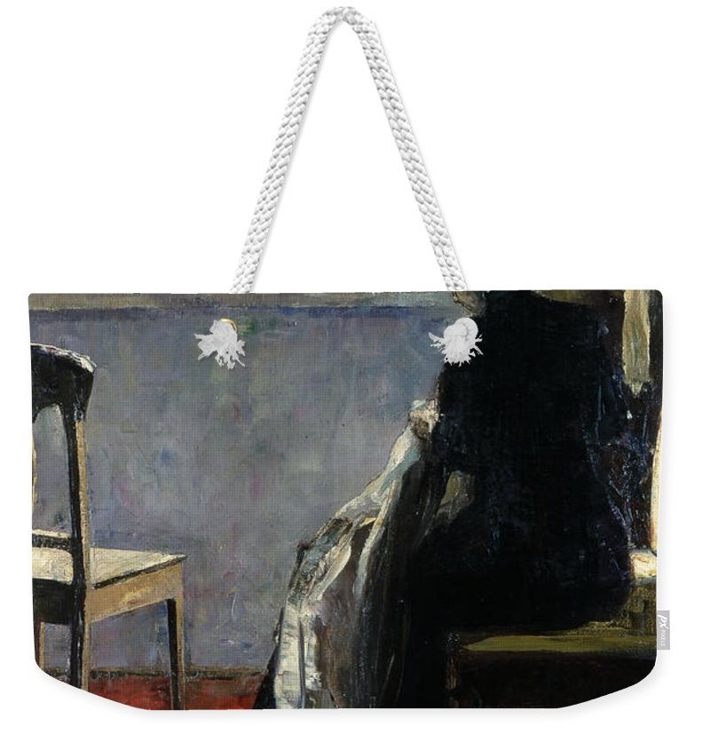 German Art Weekender Tote Bag featuring the painting The Red Carpet by Lesser Ury
