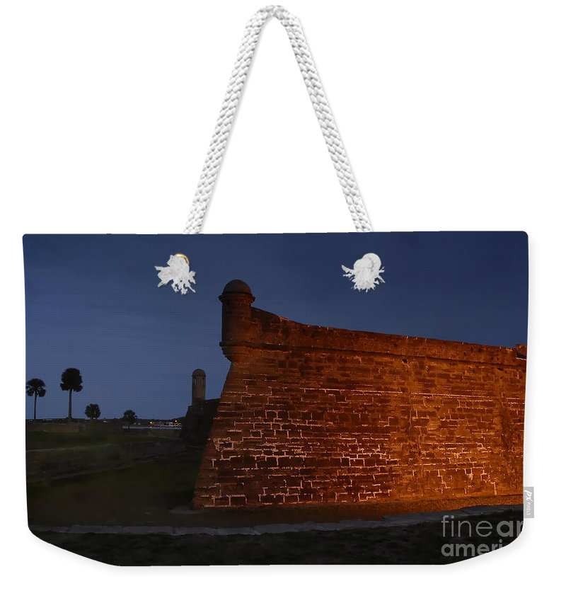 Castillo Weekender Tote Bag featuring the photograph The Red Castillo by David Lee Thompson