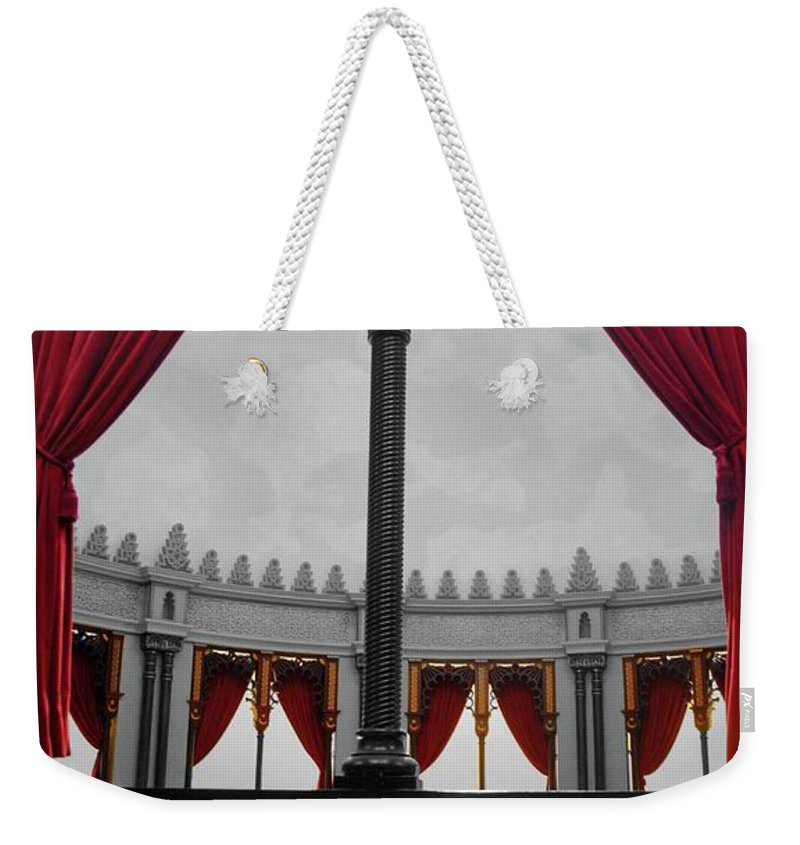 Red Weekender Tote Bag featuring the photograph The Red Curtain by Jost Houk