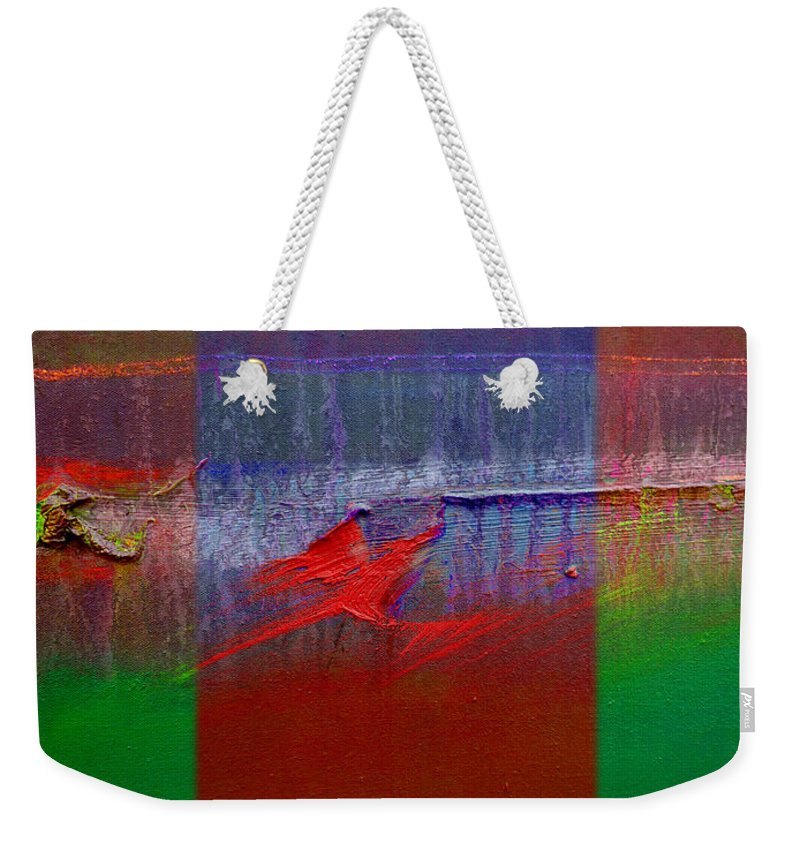 Landscape Weekender Tote Bag featuring the painting The Red Dragon Tatoo by Charles Stuart
